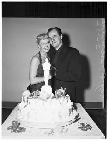 Double celebration... Warner [Bros] Studios, 1952