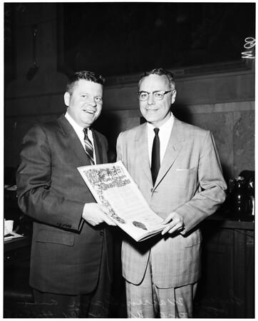 Hall of records presentation, 1958