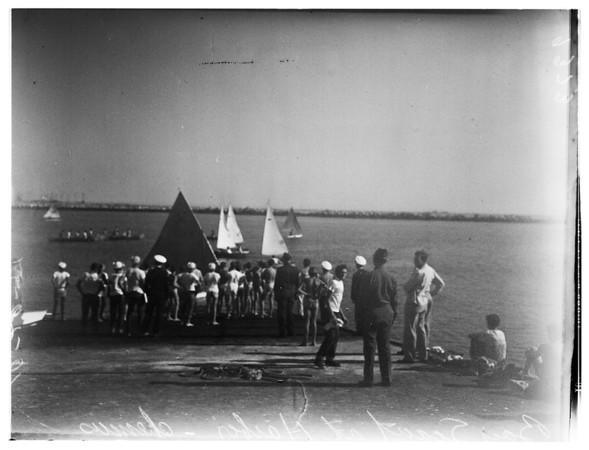 Explorer Scouts At Harbor, 1951