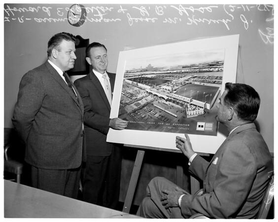 Trade fair (sketch of trade fair layout), 1958