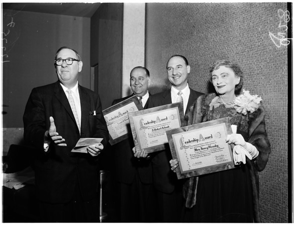 Hebrew congregation awards, 1958