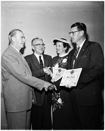 Schools Parent Teacher Association safety awards luncheon, 1956