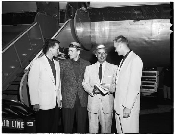 University of Southern California bases all team off for Omaha, Nebraska, 1955