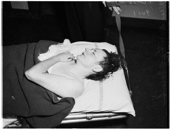 Attempted suicide...leaped out of window ...3206 West 8th Street, 1951