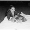 Cat with adopted puppy -- El Monte, 1951