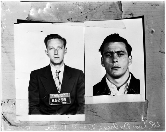 Robbery suspects, 1952