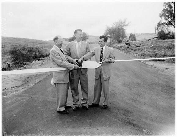 Opening of Hacienda Road, 1955
