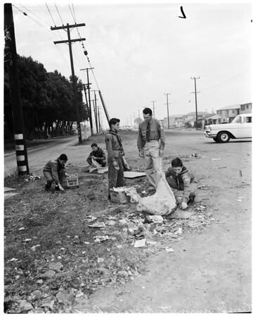 Litterbug feature (Clean Community Crusade), 1957