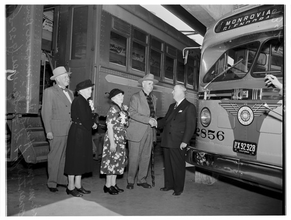"""Saw """"Red Cars"""" (Pacific Electric) come and go, 1951"""