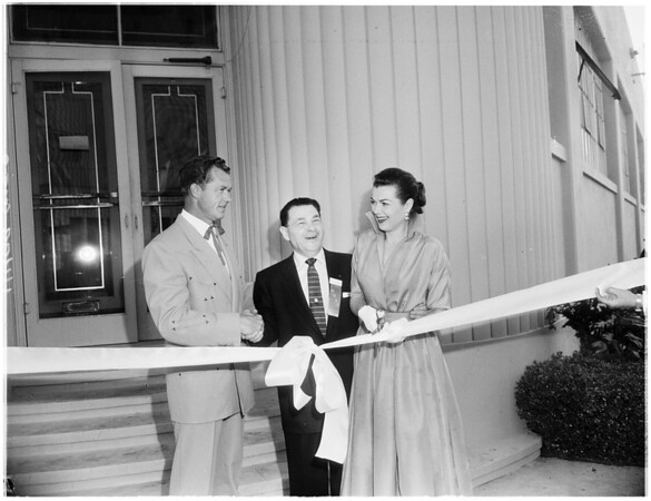 Ribbon cutting ceremonies, 1955