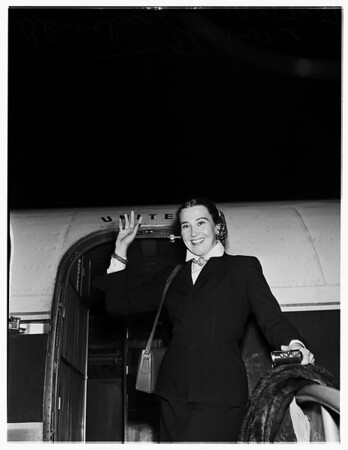 Arrival...United Airlines, 1951