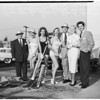 Groundbreaking at the Hollywood Knickerbocker Hotel, 1955