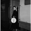 Opera star arrival, 1951