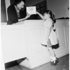 Kindergarten pre-registration at Franklin Elementary School, 1958