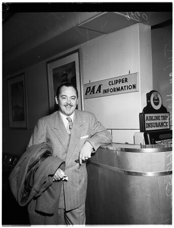 Julian Hartt leaves for Korea, 1952