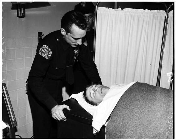 Suicide attempt (subway terminal building), 1958