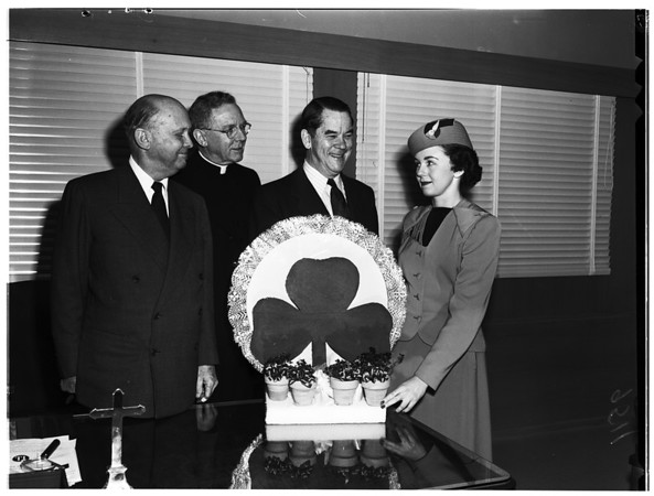 Saint Patrick's Day (fresh Shamrock flown from Ireland), 1952
