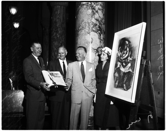 Home Savings and Loan Association honored by City Council, 1958