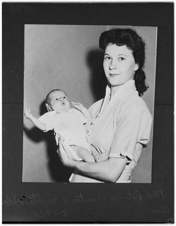 Marine's wife and child, 1951