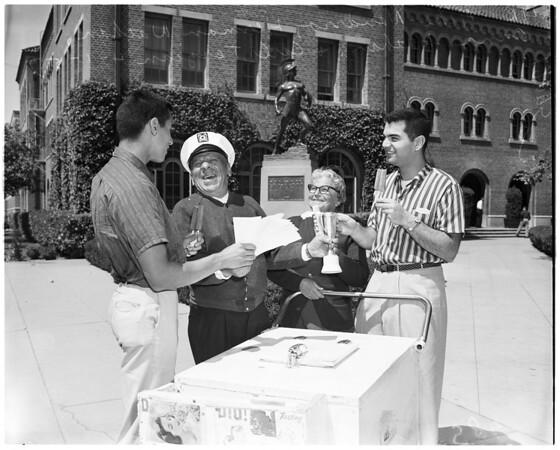 """Mr. Trojanality"" contest, 1957"
