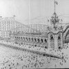 "Artist's conception of the Great Western Amusement pier including the ""Giant derby racer over and under the sea"" on pier at Venice Beach, [s.d.]"