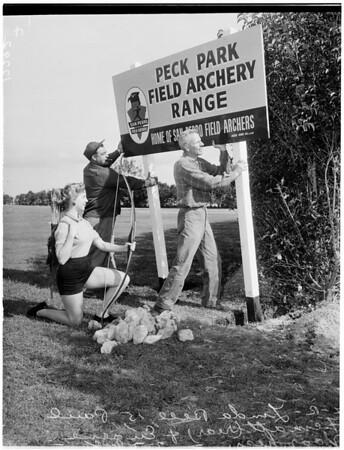 New archery club at San Pedro, 1958