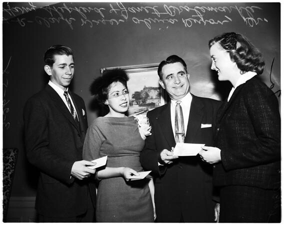 Handicapped essay award, 1958