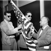 Flag sale drive by blinded Veterans (Hearst Post), 1958