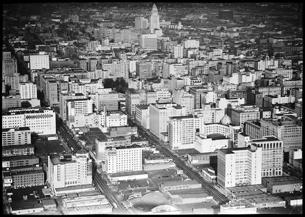 Los Angeles...Downtown...air view, 1948