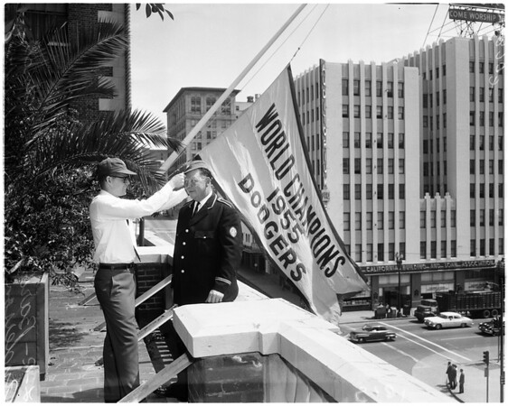 Dodgers welcome at Biltmore Hotel, 1958