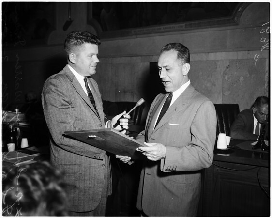 Hoffman honored, 1958.