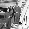 Plane arrival, 1951