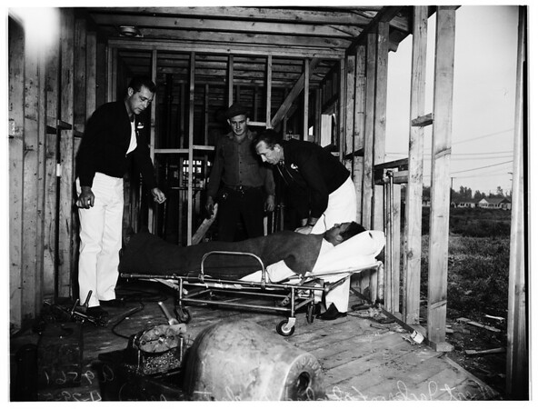 Electric shock by faultily connected and insulated skill saw ...Kester Avenue, Van Nuys, 1952