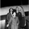 Swedish essay winner visits San Francisco on round the world trip with companions, 1952