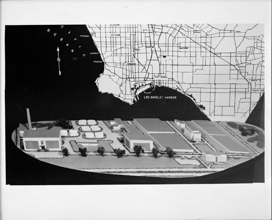 Model of sewage treatment plant, Hyperion, Los Angeles, 1941