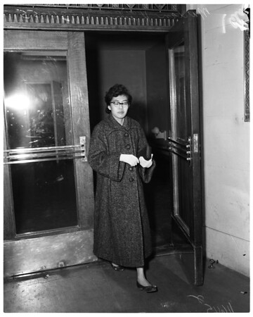 Citizen's arrest (woman kisses man against his will), 1955
