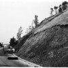 Cave-in at Elysian Park (freeway blocked), 1958