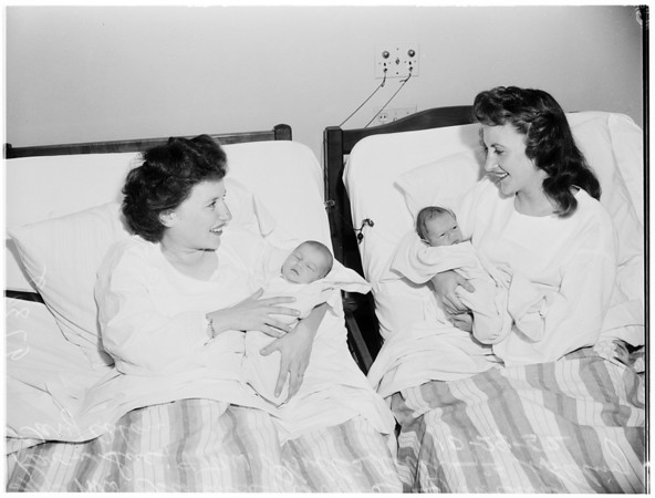 Mothers and babies (Queen of Angels medical center), 1952