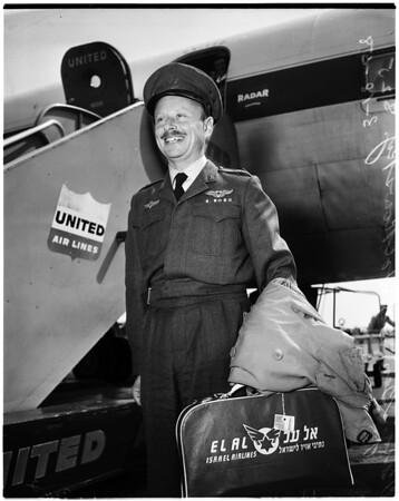 Israeli Air Chief arrival, 1958