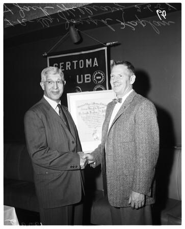 Dr. Joseph Kaplan award, 1958