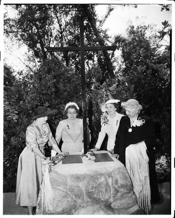 Historical marking dedication (South Pasadena), 1952