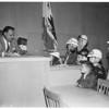 Jury hears junior drivers, 1958.