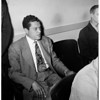 Preliminary hearing on bribery charges at Pasadena Municipal Court, 1952