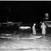 High water at Sepulveda Boulevard and Slauson Avenue, 1952