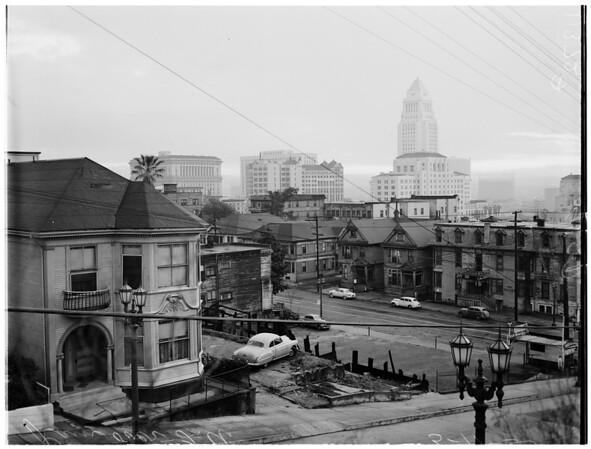 Rain over Los Angeles, 1955