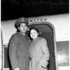 Congressional Medal of Honor winner arrives home from Washington, D.C., 1952