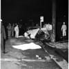 One killed in auto accident (Police chase), 1957