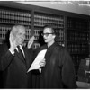 Swearing in of Judge Lillie, 1958