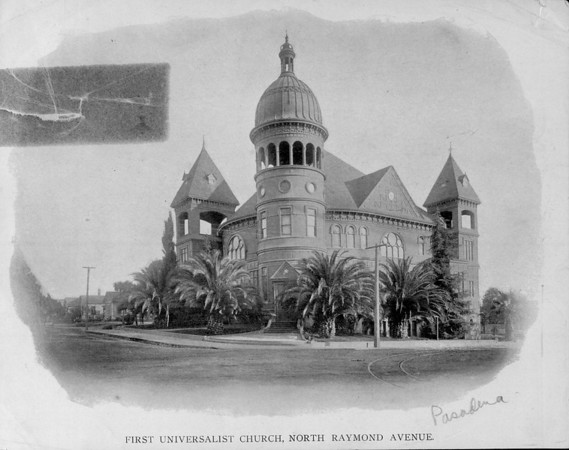 The First Universalist Church on North Raymond Avenue, ca. 1890-1910