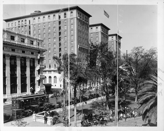 The Biltmore Hotel on Pershing Square, Los Angeles
